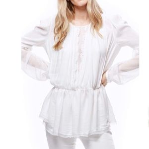 Free People White Soul Serene Top